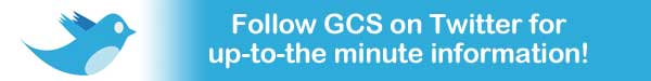 Follow GCS on Twitter for up-to-the minute information!