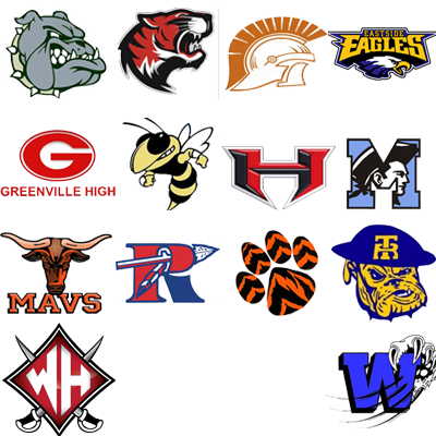 Logo with all high school logos