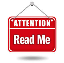 Attention Read Me Sign