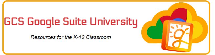 GCS Google Suite University