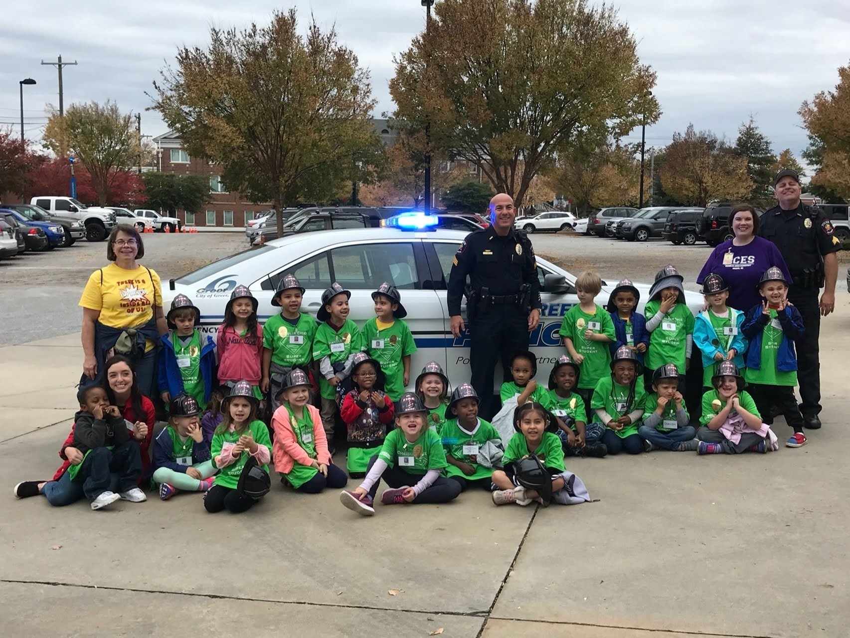 K5 Students visit Greer PD