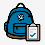 blue backpack logo