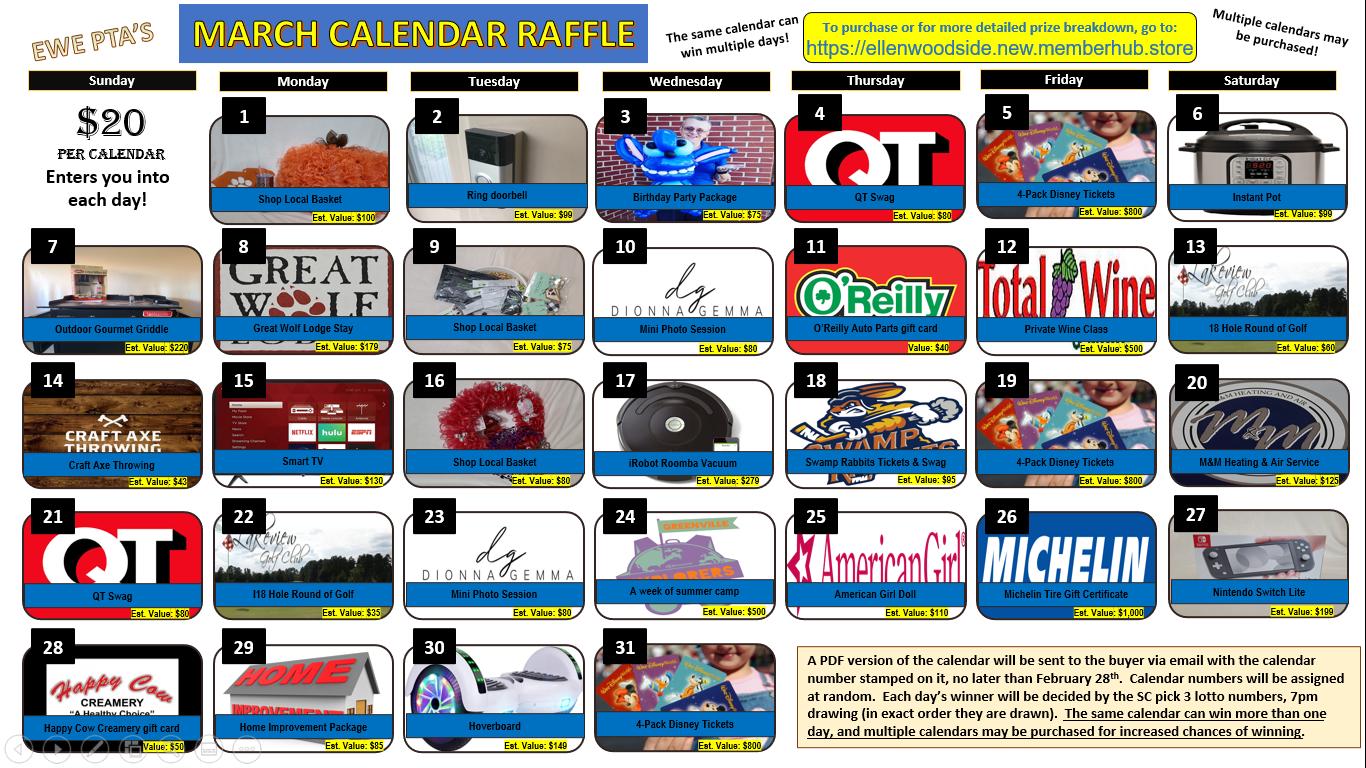 PTA Calendar Raffle