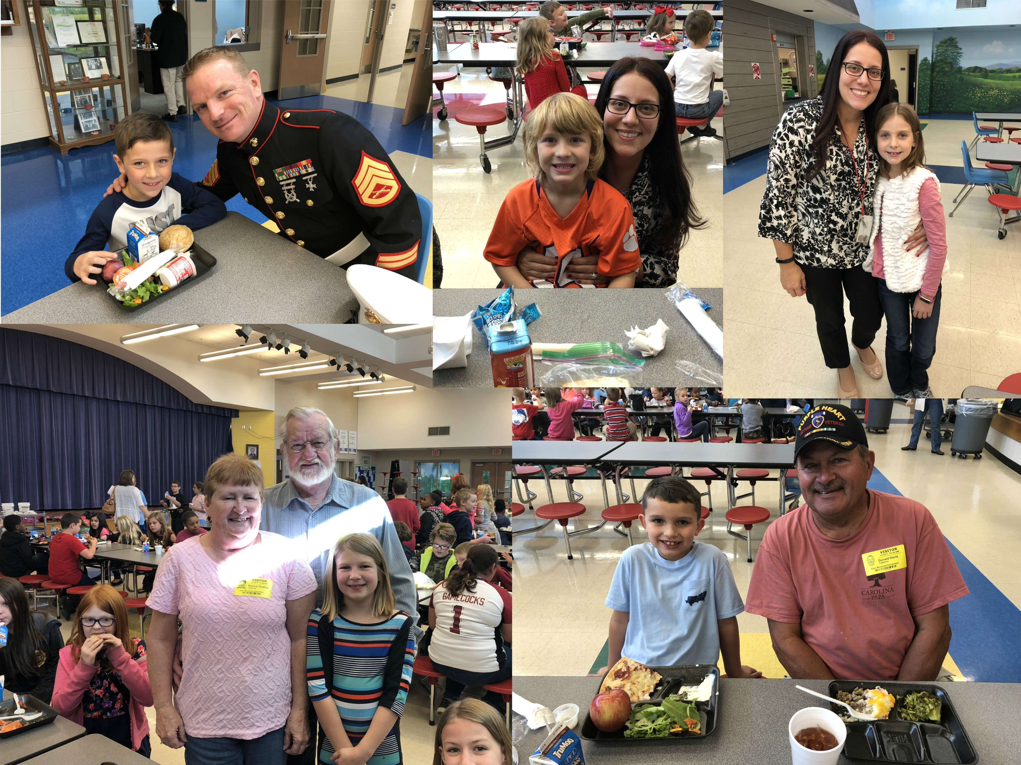 Veteran's Day Lunch Collage