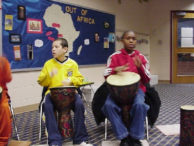 The African drums are musical instruments, ceremonial objects and means of communication in the African culture.