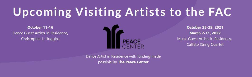 Upcoming visiting artists