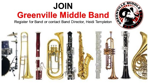 Join Greenville Middle Band
