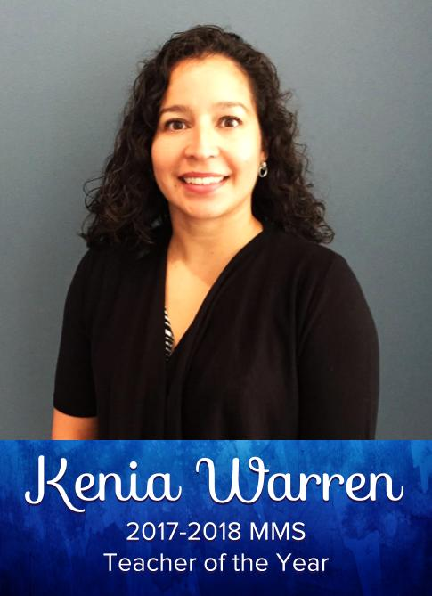 Kenia Warren, 2017-18 MMS Teacher of the Year