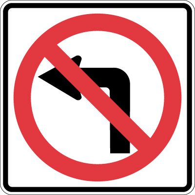 icon: no left turn