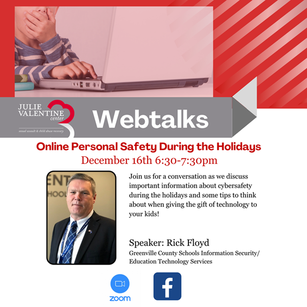 Online Safety During the Holidays Dec. 16