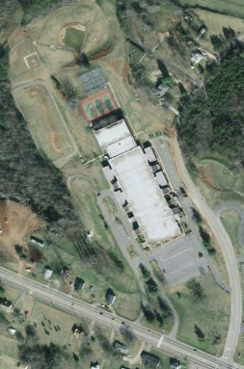 Northwest Middle School - aerial view - Click to enlarge
