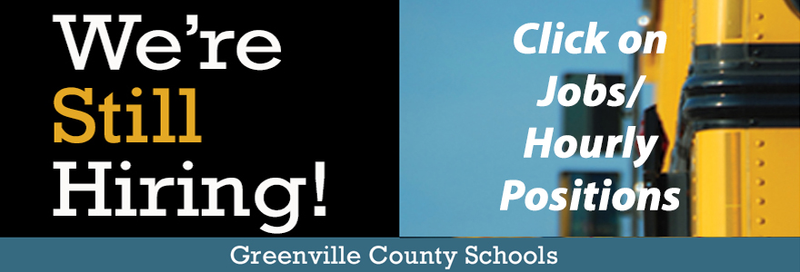GCS is still hiring!  Click on Jobs/Hourly Positions