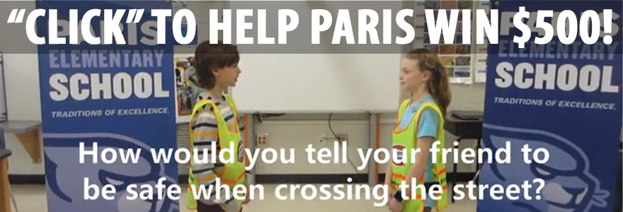 Help Paris Win $500!  Click to Learn How!