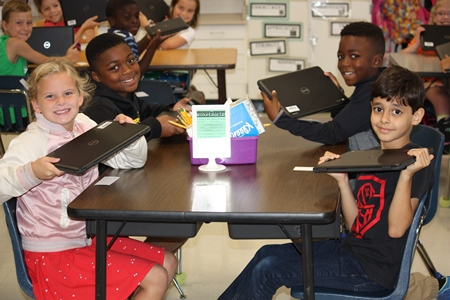 3rd graders receive new Chromebooks