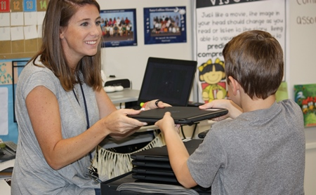 new Chromebooks for students