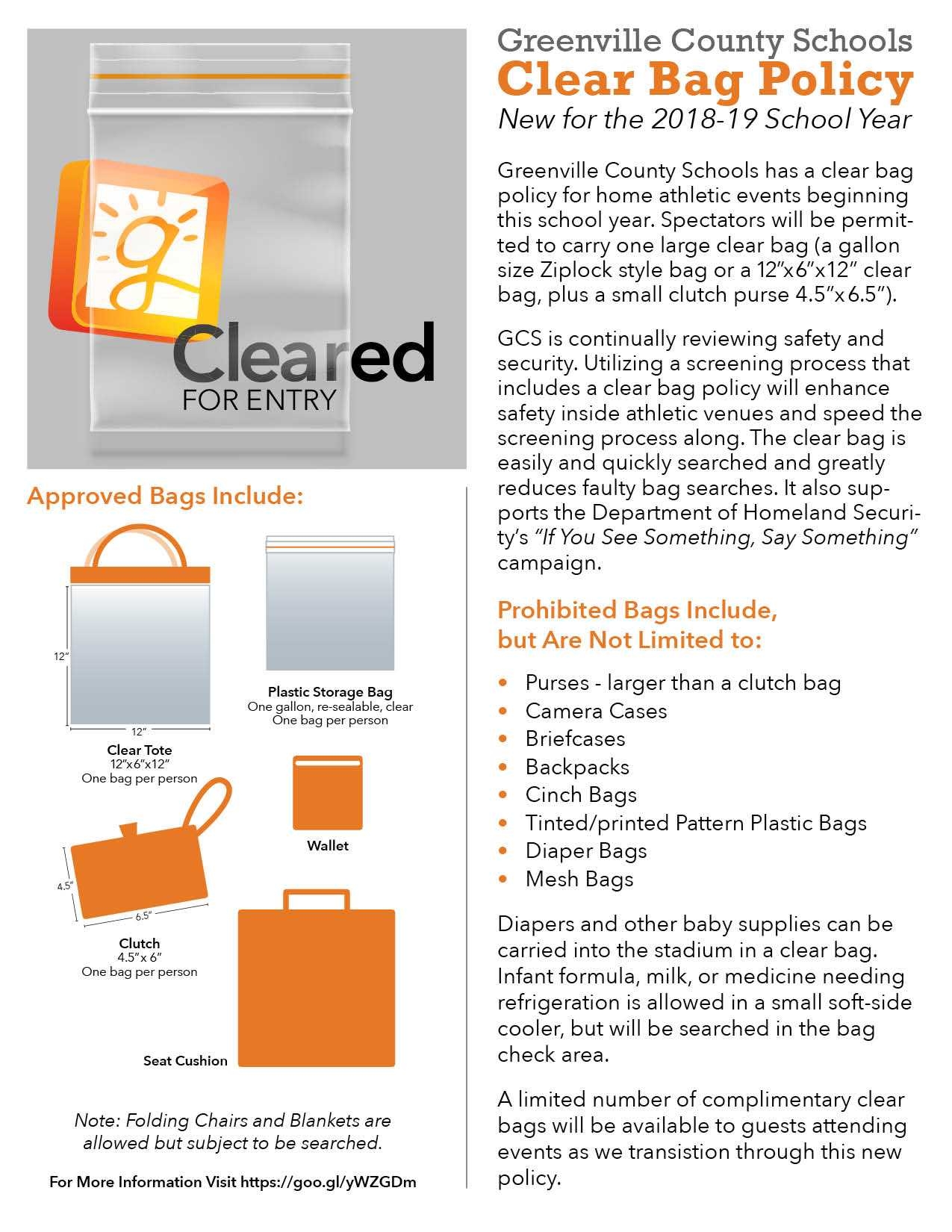 clear bag policy description