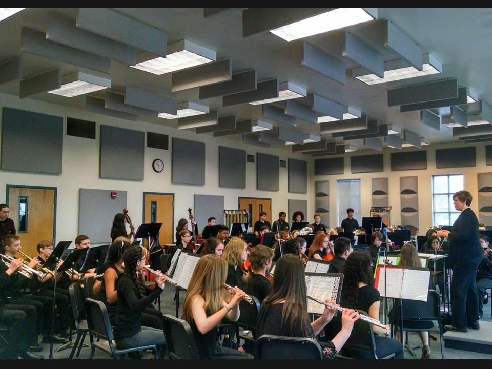 photo of orchestra students