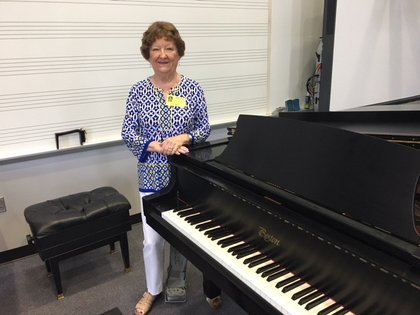 Mrs. Hunt-Fisher with Piano