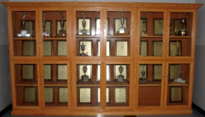 Hall of Fame Trophy Case