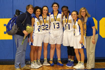 Senior Girls' Basketball PLayers