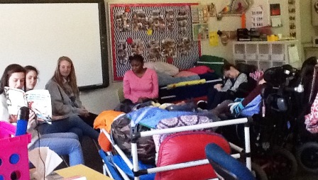 Christ Episcopal Church 8th Graders fulfill Service Learning requirements as Reading Buddies for Washington Center students.