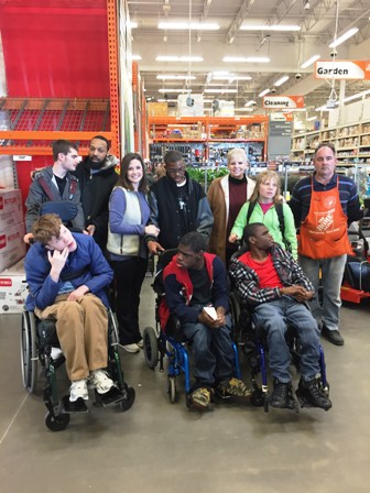 Students and staff from Mrs. Virginia Cook's Washington Center class learned about home improvement during a recent trip to Home Depot.