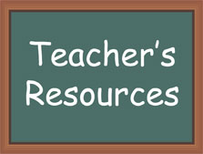 green chalkboard with teacher resources written on it