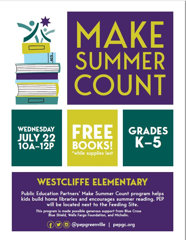 Free books at Westcliffe Elementary on July 22 from 10 to 12