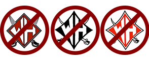 Examples of symbols used to represent Wade Hampton, but are not official.
